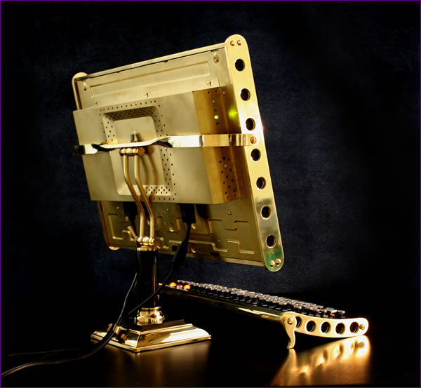 Brass and Marble LCD Mod by Datamancer.net Steampunk 1