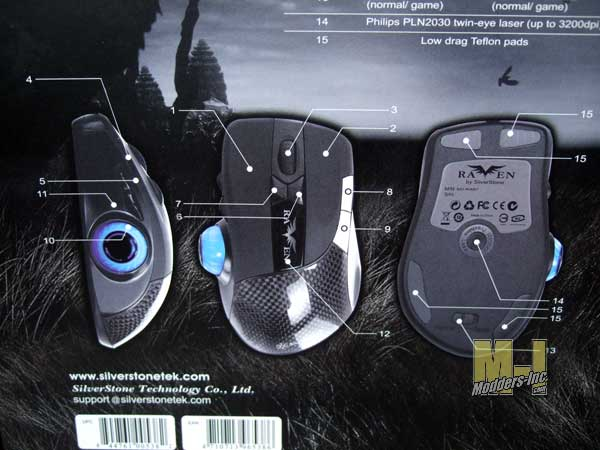 SilverStone Raven Mouse Gaming Mouse, SilverStone