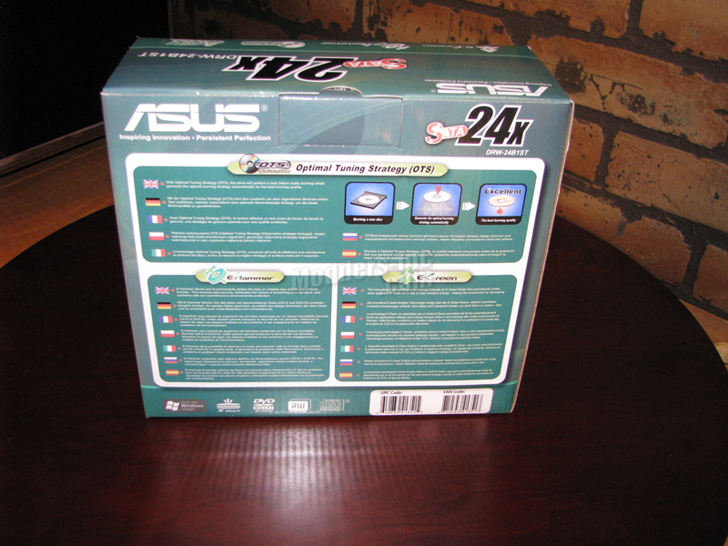 ASUS DVD-RW DRW-24B1ST Optical Drive ASUS, DVD-RW, optical drive