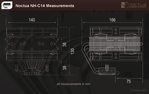 Noctua NH-C14 CPU Cooler CPU Cooler, NH-C14, Noctua 3
