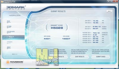 HD 5750 3DMARK Vantage Score Performance