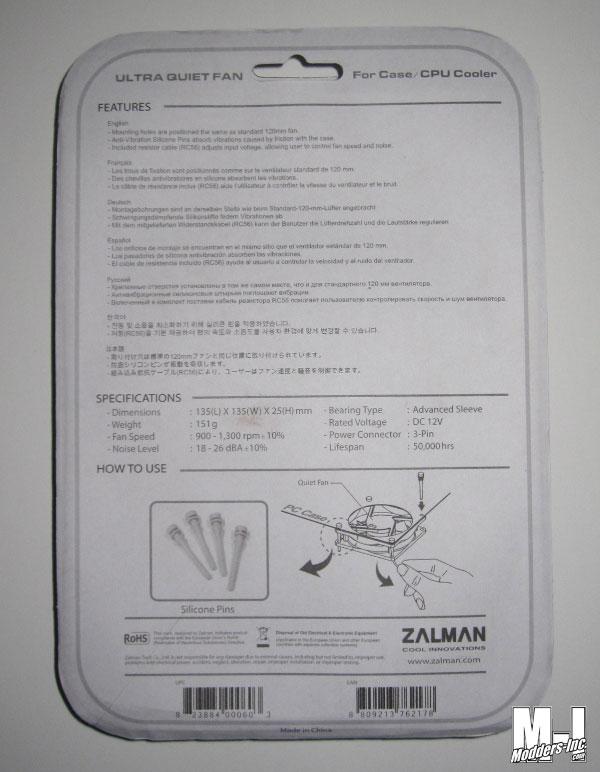 Zalman ZM-F4 135mm Fan 135mm, Fan, Zalman, ZM-F4 4