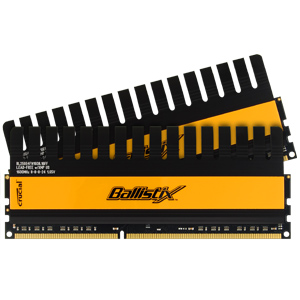 Crucial 4GB kit, Ballistix 240-pin DIMM, DDR3 PC3-12800 Memory