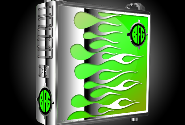 Photo of Green Flame Case Mod by TAZZ