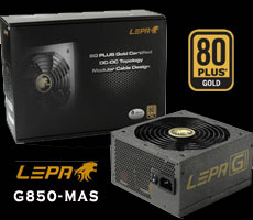Photo of LEPA G850-MAS 80 PLUS Gold Certified Power Supply