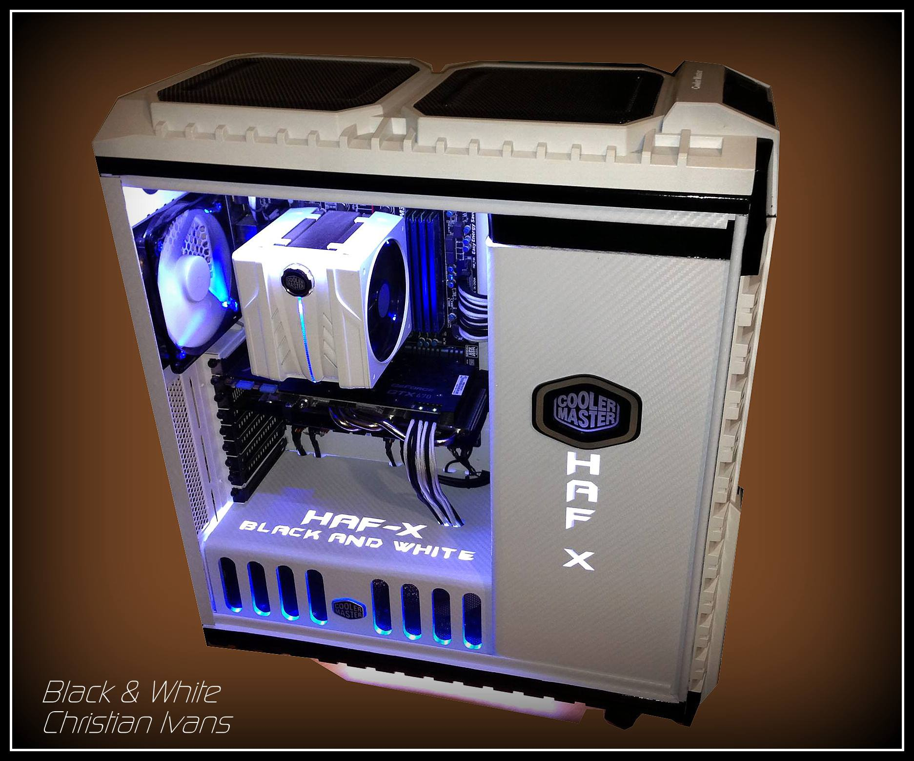 Cooler Master HAF X Black And White Case Mod — Modders-Inc