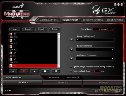 GX Gaming Manticore Software Macros