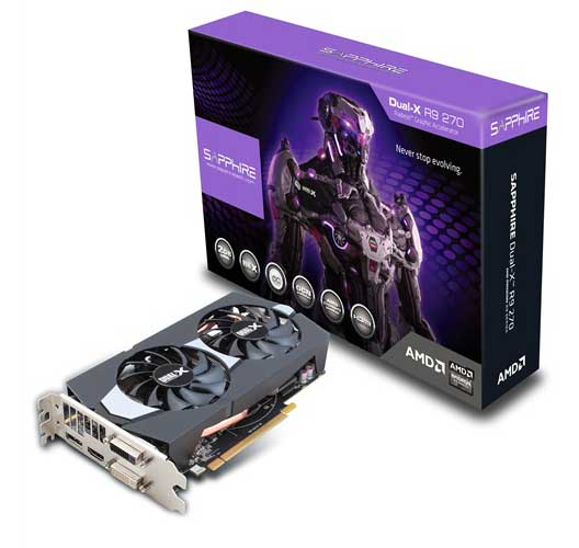 SAPPHIRE DUAL-X R9 270 2GB GDDR5 WITH BOOST & OC