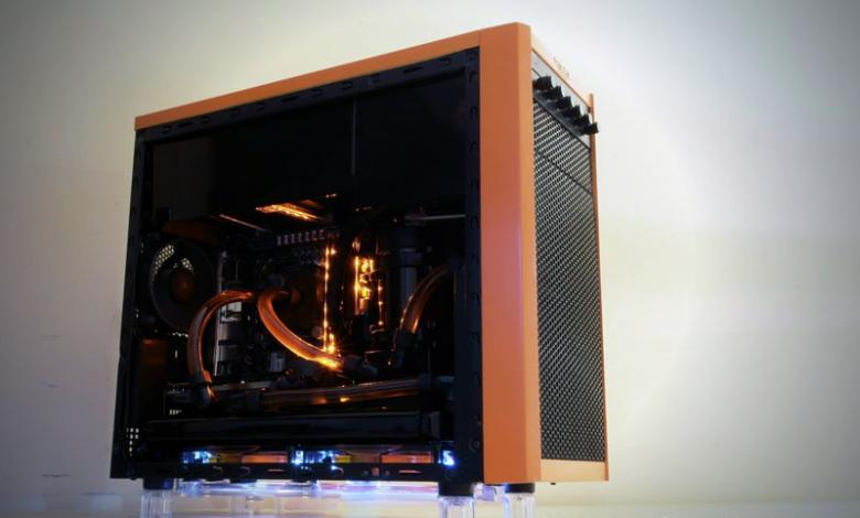 Photo of Orange Dragon: Fractal Design Core 1000 Case Mod