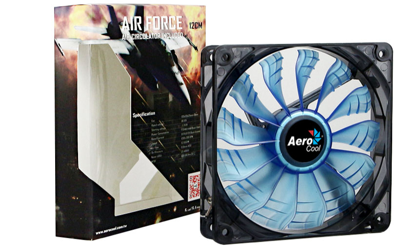Aerocool Air Force: Silent case fans with FDB and Air Circulator Fans 1