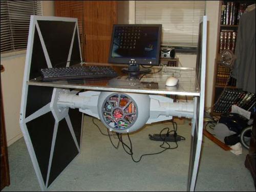 Tie Fighter desk