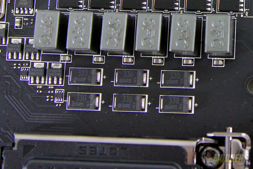 """0.47uF """"Super Ferrite"""" chokes  with Tantalum-core Hi-C caps"""