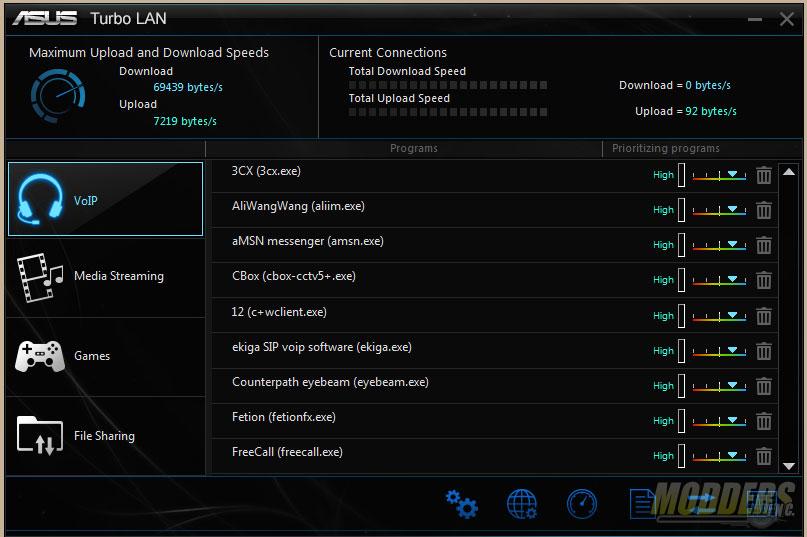 Turbo LAN Main Window