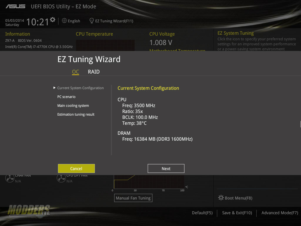 OC Tuning: Current System Settings