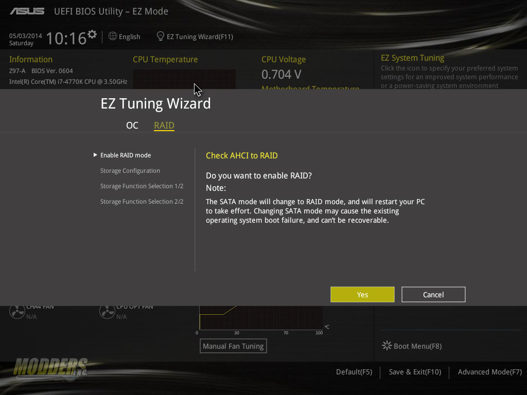 EZ Tuning also does RAID