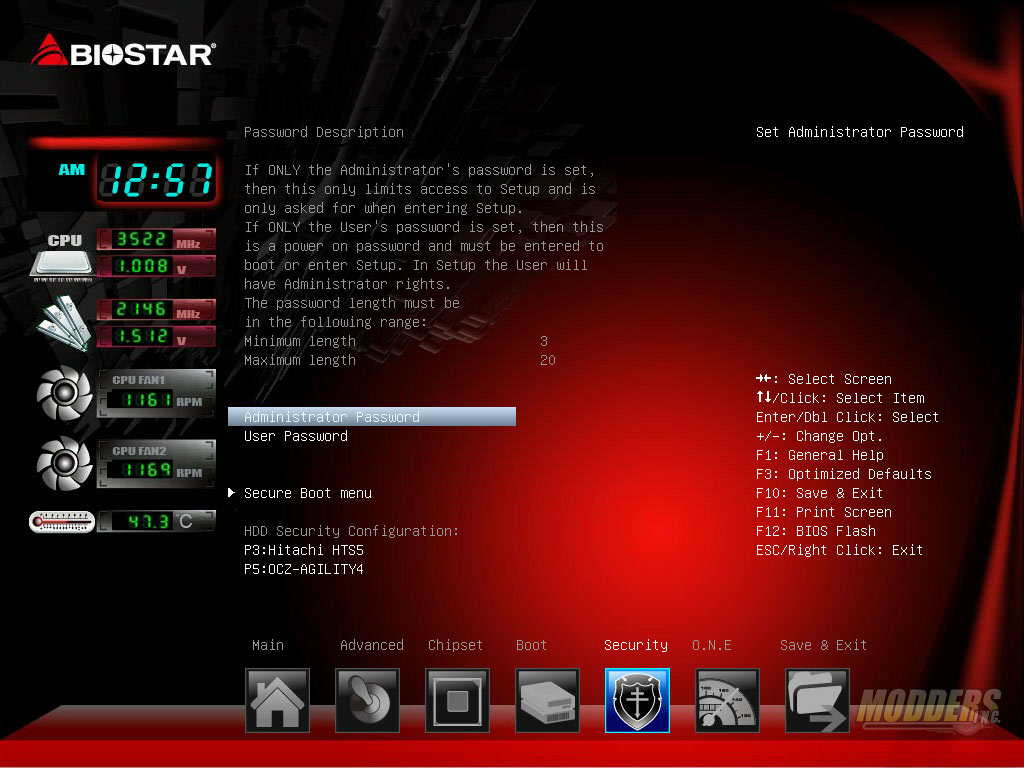 UEFI Security page