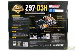 Gigabyte Z97-D3H Box Rear