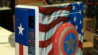 Captain America Case Mod at QuakeCon 2014 quakecon 2014 4