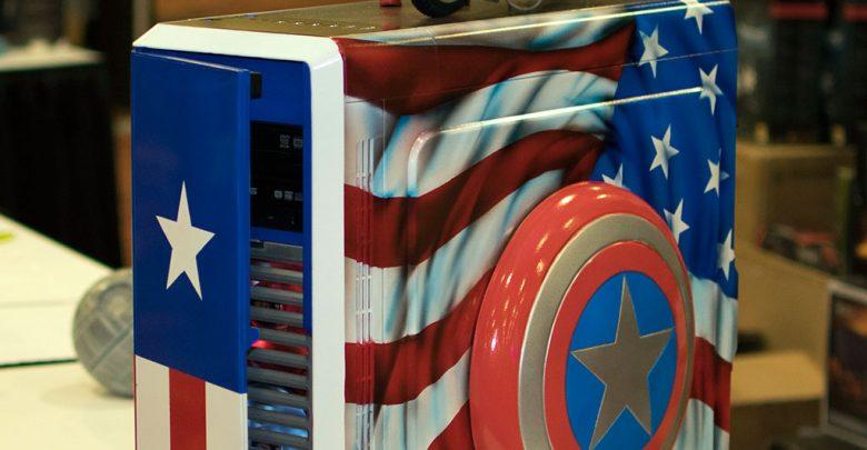 Photo of Captain America Case Mod at QuakeCon 2014
