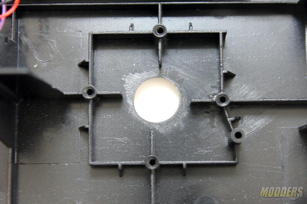 Joystick mounting holes