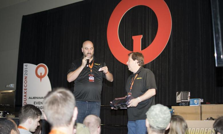 Photo of Winners of the Modders-Inc Hardware Raffle at QuakeCon 2014