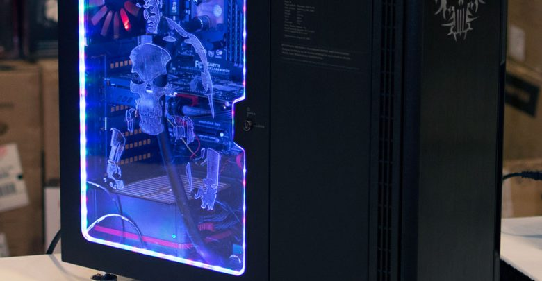 Photo of Punisher Case Mod at QuakeCon 2014