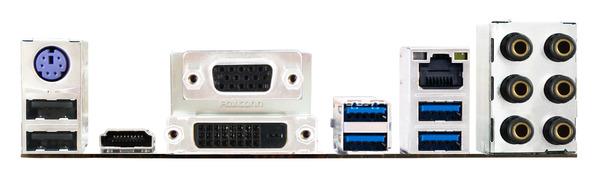 Biostar Z97Z7 Motherboard Rear IO