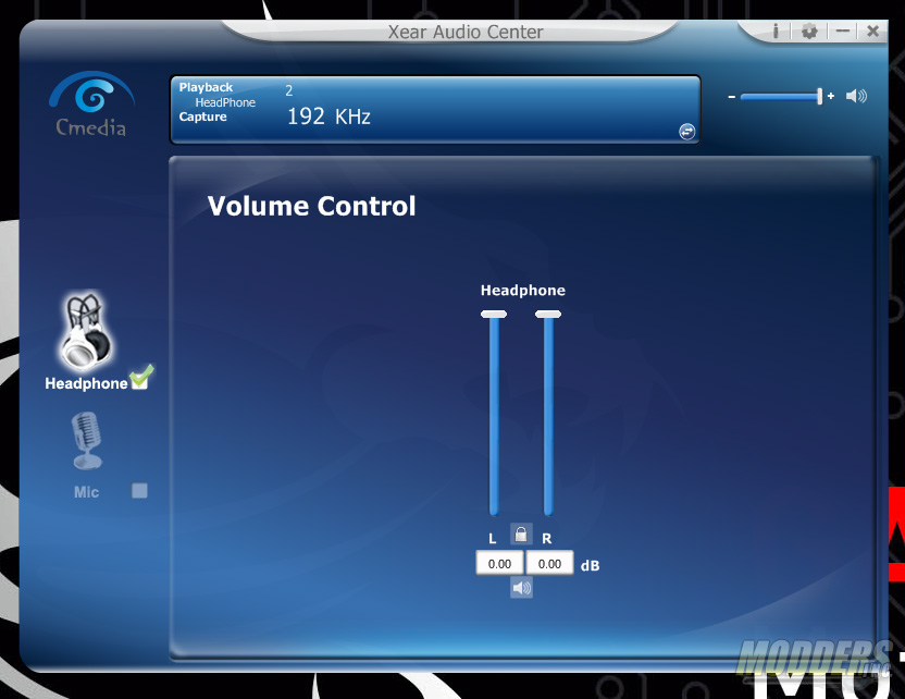 Xear Control Panel for CMedia device