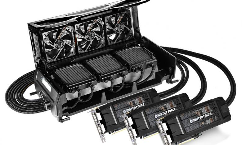 Photo of Gigabyte Shows-off WaterForce TRI-SLI Video Card Kit