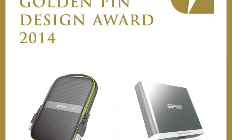 Photo of Silicon Power Wins Great Recognition from Golden Pin Design Award 2014
