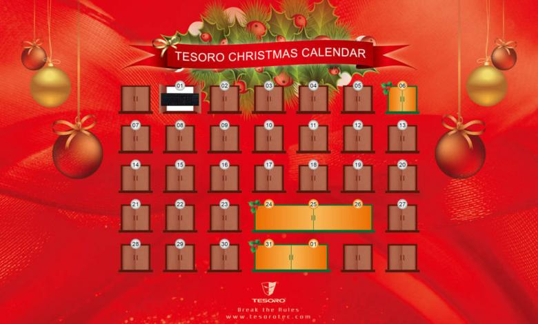 Photo of Tesoro Announces Christmas Calendar Global Giveaway