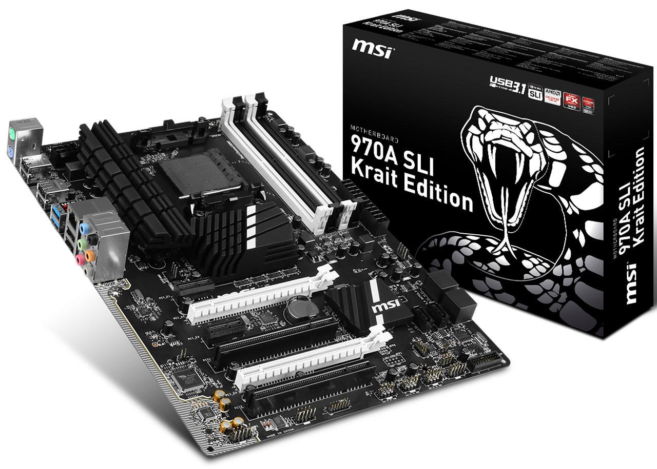 MSI 970A Krait SLI is World's 1st AMD motherboard featuring USB 3.1 970, 970a, Am3+, AMD, krait, Motherboard, MSI, sli 1