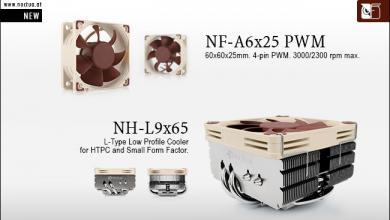 Noctua Introduces New Low-profile NH-L9x65 CPU cooler HTPC, itx, nf-a6x25, nh-l9x65, Noctua, sff 5