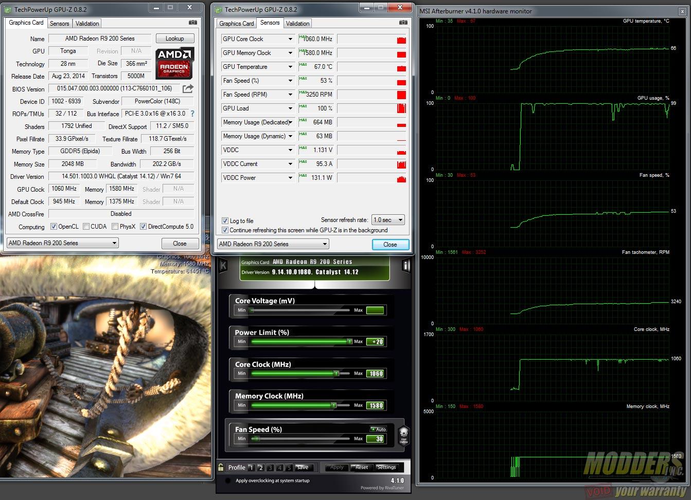 PowerColor R9 285 TurboDuo Default FAN 1060MHz Core 1500MHz Mem