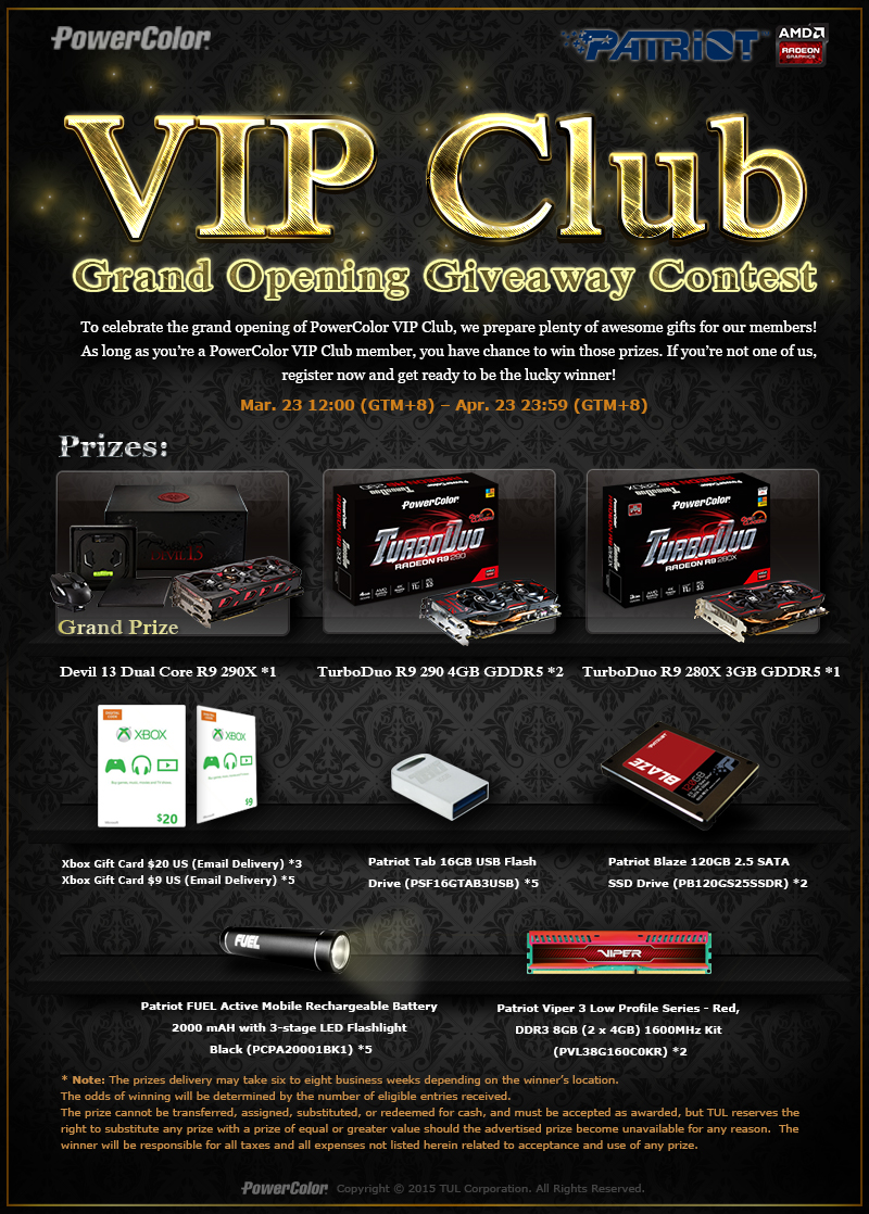 PowerColor VIP Club Grand Opening Contest