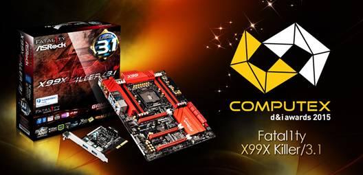 Photo of ASRock Fatal1ty X99X Killer/3.1 Takes Home the COMPUTEX d&i Award 2015
