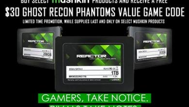 Mushkin Announces REACTOR Series Expansion with UBISOFT's Ghost Recon Phantoms giveaway, Mushkin, reactor, SSD, sweepstakes