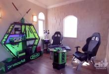 Team Nerdy Ninja Custom Gaming Room from the Vanilla Ice Project diy project, modding, tv, video, youtube 9