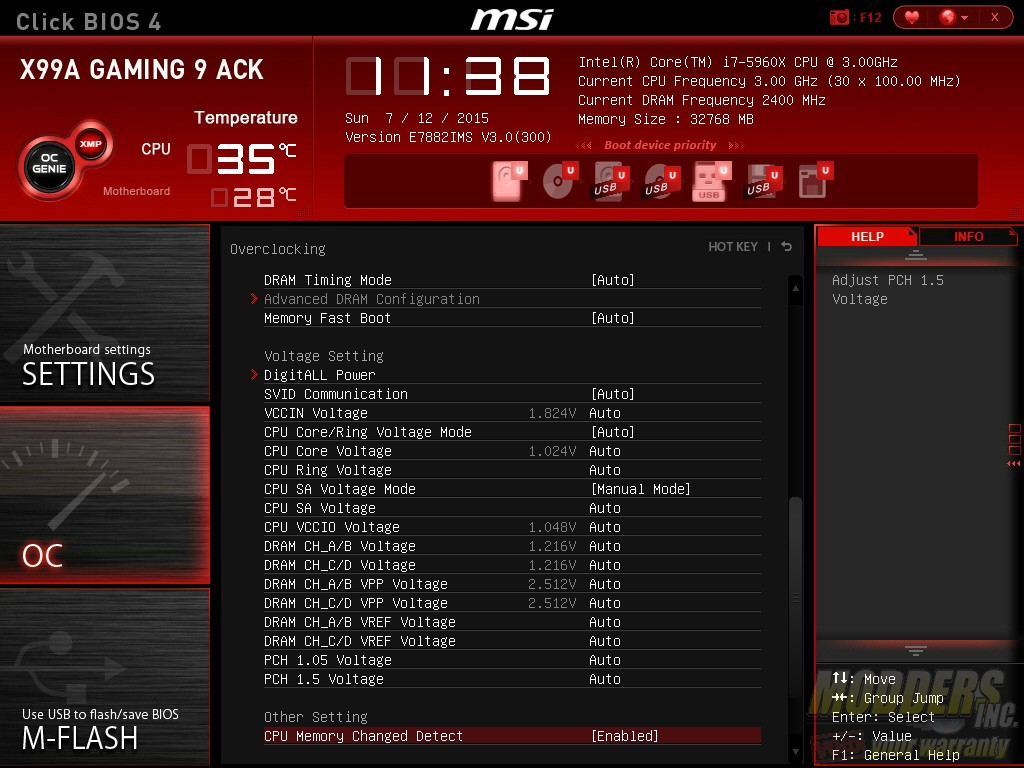 MSI X99A Gaming 9 ACK Motherboard Review — Page 5 of 11 — Modders-Inc