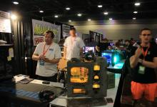 Tek Syndicate stops by the Modders-Inc booth at QuakeCon 2015 case mod contest, case mods at quakecon, quakecon 10
