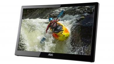 "16"" E1659FUWX-PRO 1080p USB Monitor from AoC Now Available display, E1659FUWX, E1659FUWX-PRO, modding, monitor, USB 3.0 3"