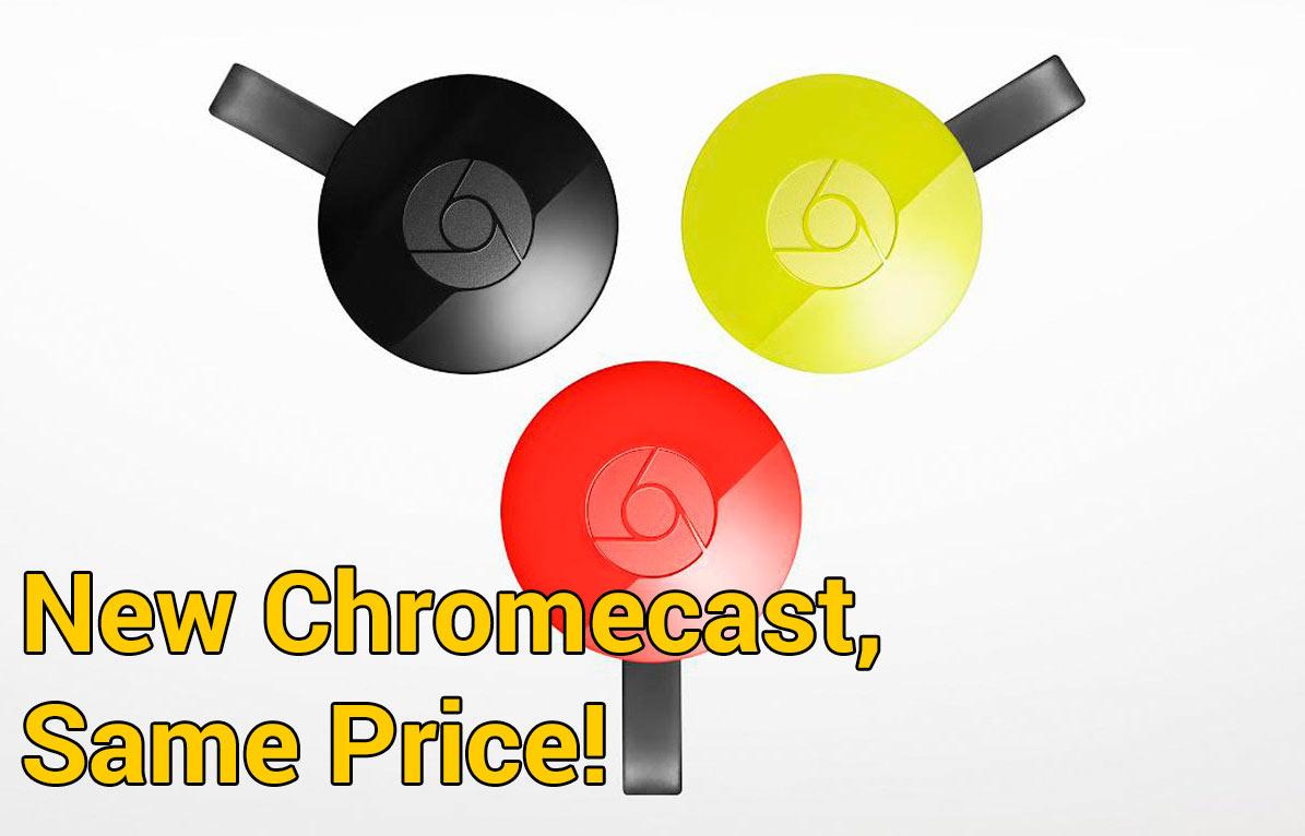 Google Unveils Updated Chromecast Device chromecast, google, HDTV, netflix