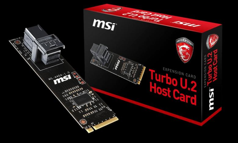 Photo of MSI U.2 Host Adapter Card Now Available