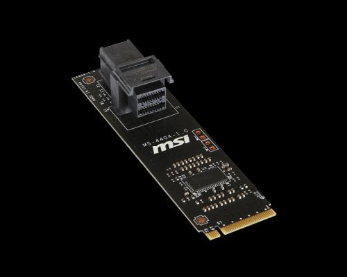 MSI U.2 Host Adapter Card Now Available 750, drive, Intel, m.2, MSI, SSD, Storage, u.2 4
