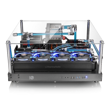 Thermaltake Core P5 ATX Open Frame Panoramic Viewing Gaming Computer Chassis has a 3-Way Placement Layout