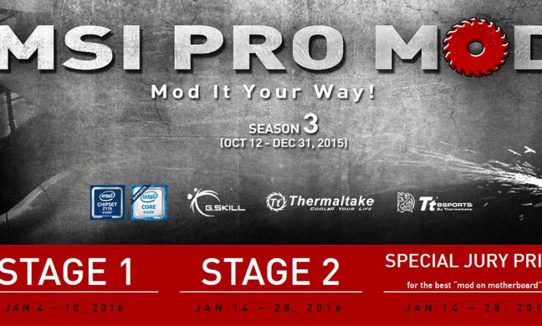 Photo of MSI PRO MOD Season 2 Wraps-up, Season 3 Launched Immediately