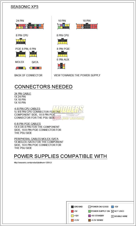 seasonic power supply pinout