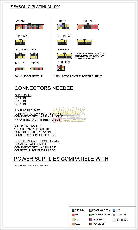 seasonic platinum power supply pinout