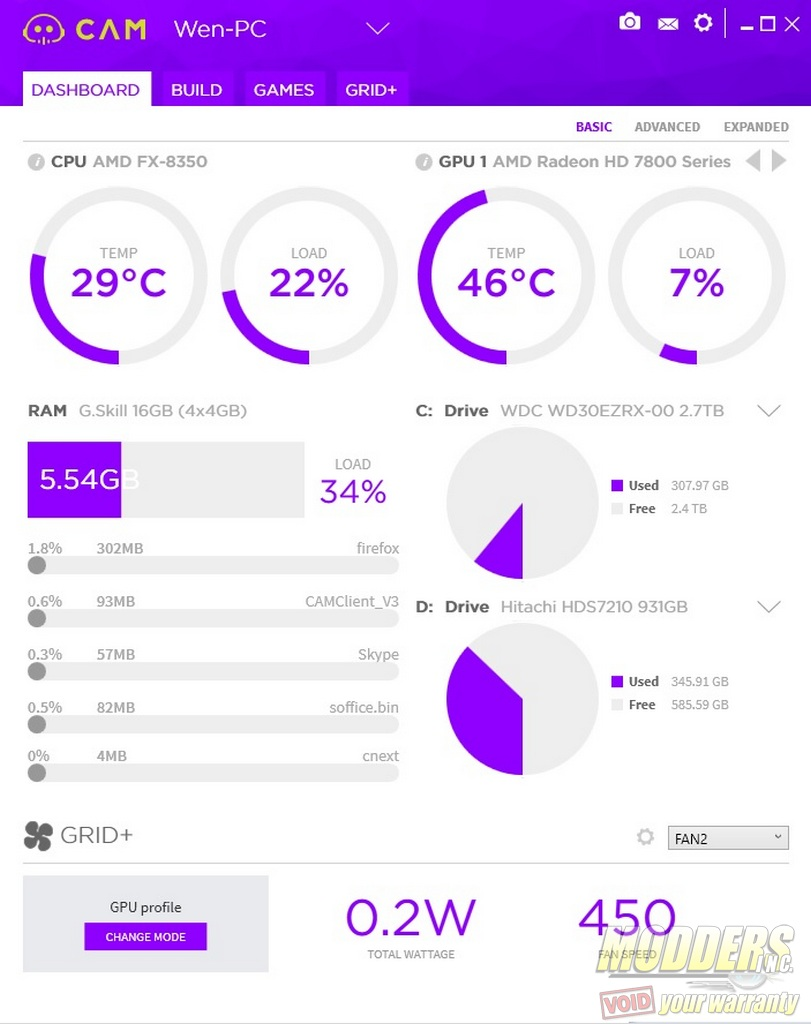 Nzxt Cam 3 0 Pc Monitoring Software Review Page 2 Of 2 Modders Inc