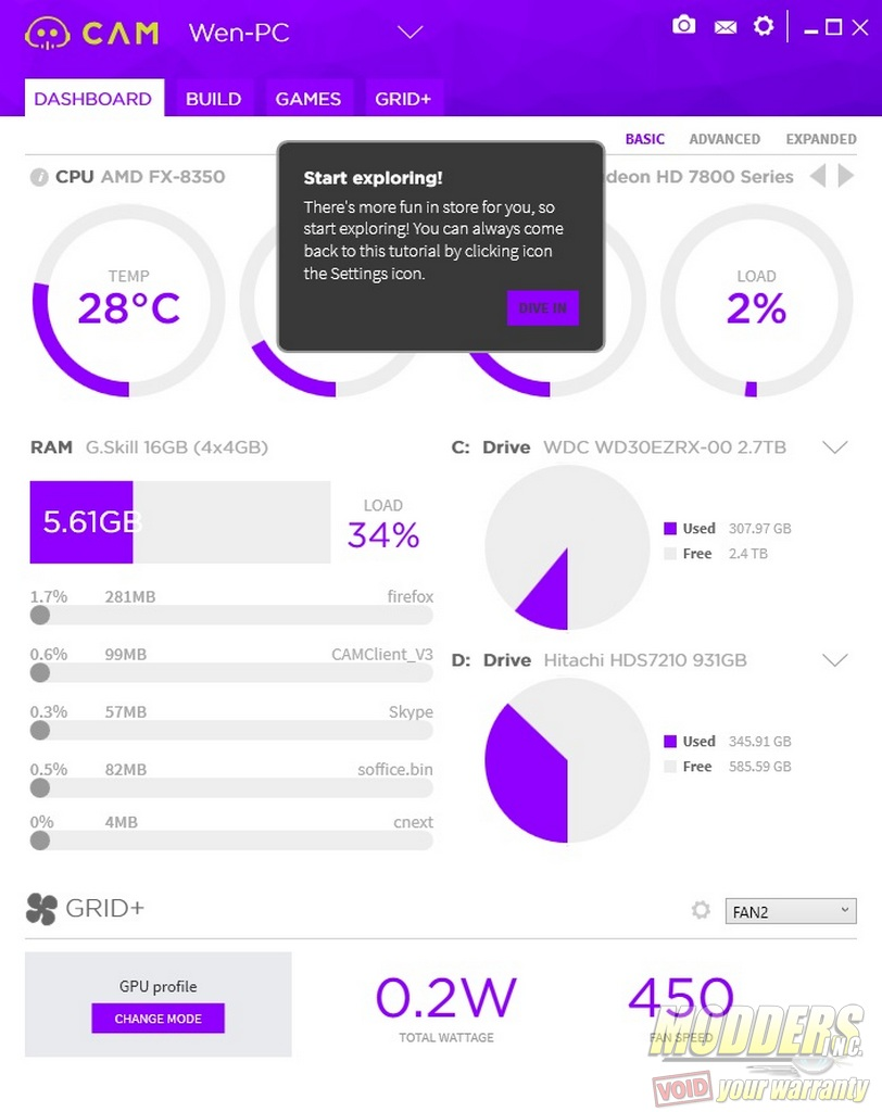 NZXT CAM 3 0 PC Monitoring Software Review — Modders-Inc